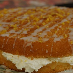 Homemade Lemon Drizzle cake from plantagogo