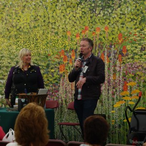 Toby and I in the talks theatre at Rhs Cardiff 2014