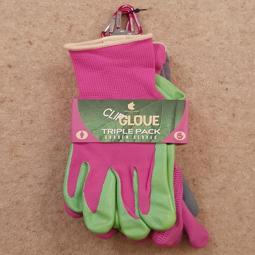 Treadstone Clip Glove 'Triple Pack' Ladies Gardening Glove - Size Medium