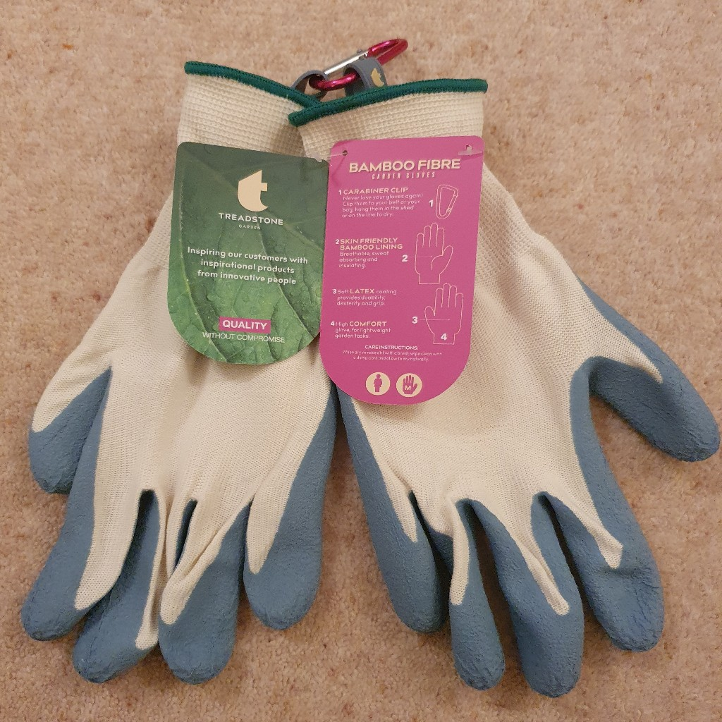 Treadstone Clip Glove 'Bamboo Fibre' Ladies Gardening Glove size Medium