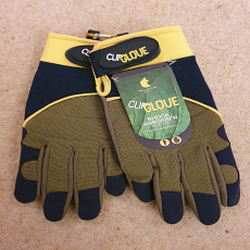 Clip Glove 'Shock Absorber' Men's Gardening Gloves - Size Large